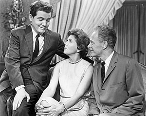 William Prince (actor) - Prince (right) with Augusta Dabney and John Connell in Young Doctor Malone, 1962.