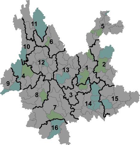 Yunnan prfc map