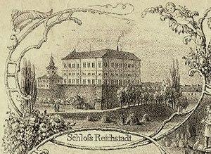 Reichstadt Agreement - Schloß Reichstadt, Lithograph 1853