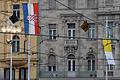 Zastave Trg Benedictus PP XVI Zagreb 04062011.jpg