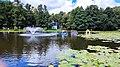 Zelenogradsk - Tortilin Pond Fountain and Duck House.jpg