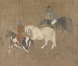 Zhao Mengfu: Riders Leading a White Horse