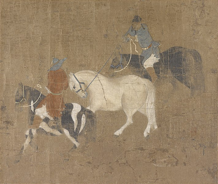 File:Zhao Mengfu - Riders Leading a White Horse - 55.209 - Indianapolis Museum of Art.jpg