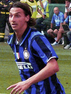 Zlatan Ibrahimović - Ibrahimović playing for Internazionale in 2007