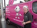 Zoë in the pink van (5943892509).jpg