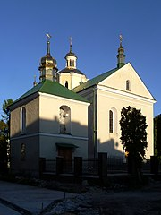 Zolochiv Lvivska-church of Resurrection-Bell tower.jpg