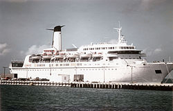 Die Cunard Ambassador in Key West, September 1974