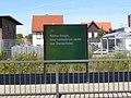 'Keine Sorge - hier verkehren nicht nur Dampfloks' - Deutsche Bahn sign on Wernigerode Hauptbahnhof main line platform.jpg