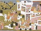'Sita and Lakshmana Leave Ayodhya', Kangra, Himachal, India, early 19th century.jpg