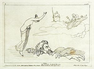 Hecatoncheires - Etching by Tommaso Piroli (1795) after a drawing of John Flaxman