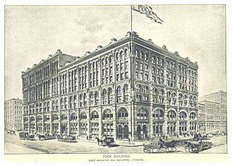 Puck Building - Houston and Mulberry, 1893