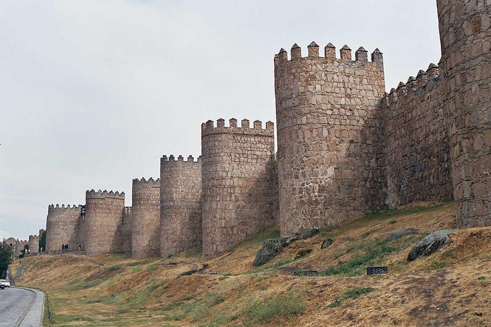 City walls in Ávila, Spain, a UNESCO World Heritage Site