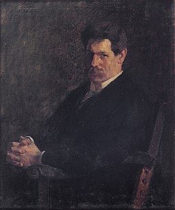 Schweitzer in 1912. Oil on canvas painting by Emile Schneider (Strasbourg Museum of Modern and Contemporary Art) Emile Schneider, Portrait d'Albert Schweitzer.jpg
