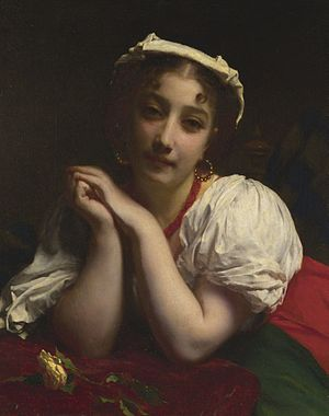 Adolphe Piot - Image: Étienne Adolphe Piot Young Italian Woman