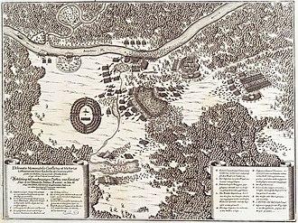 Battle of Loyew (1649) - Battle of Loyew on a 17th-century copper engraving