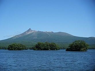 Hokkaido Koma-ga-take - View from Lake Ōnuma (August 2008)