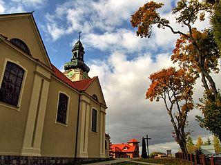 Pinczyn Village in Pomeranian Voivodeship, Poland