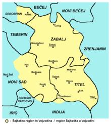satelitska mapa vojvodine Žabalj   Wikipedia satelitska mapa vojvodine