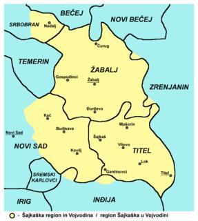 Geographic region of Serbia