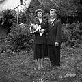 Ženin in nevesta Avguštin in Ivanka Škufca, Mačkovec 1957.jpg