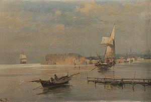 Κωνσταντίνος Βολανάκης - Βάρκες στο λιμάνι.jpg