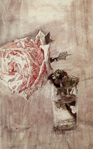Роза в стакане. 1904, Государственная Третьяковская галерея