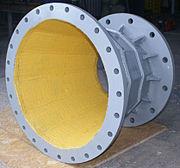 Конфузор, изготовленный из биметалла. При применении такого конфузора снижается количество ремонтов шламопровода
