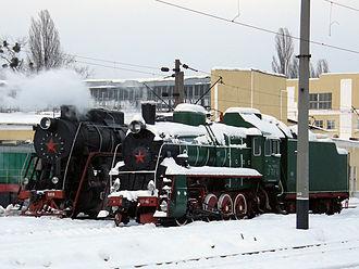 Darnytsia railway station - Steam locomotives at the Darnytsia locomotive depot
