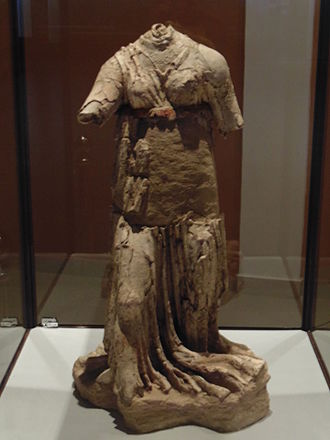 History of Tajikistan - Sculpture of the woman of the pre-Islamic period (Tajikistan).