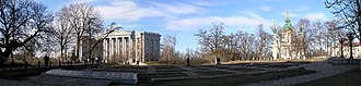 Joseph Karakis - Panorama of Kiev with building of Karakis on the left