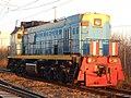 ТЭМ18ДМ-447, Russia, Samara region, Oktyabrsk station (Trainpix 192216).jpg
