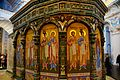 Участок стены часовни Гроба Господня внутри ротонды Воскресенского собора Новоиерусалимского монастыря. Истра, Московская обл.jpg