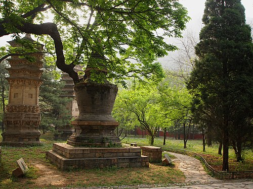 The tomb pagodas at Tanzhe Temple Shi Fang Pu Tong Ta (Seng Ren He Zang Ta ) - Pagoda for Ordinary Monks - 2012.04 - panoramio.jpg