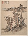 明 藍瑛 仿宋元山水圖 冊 紙本-Landscapes after Song and Yuan masters MET DP161018.jpg