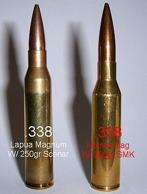 .338 Lapua Magnum - Image: .338 Lapua Magnum vs .338 Norma Magnum