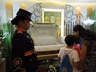 Miriam Defensor Santiago - Wake of Miriam Defensor Santiago at the Cubao Cathedral.