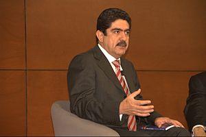 Manuel Espino Barrientos - Manuel Espino Barrientos at the presentation of the book Calderón de cuerpo entero, by Julio Scherer García, at the Monterrey Institute of Technology and Higher Education, Mexico City.