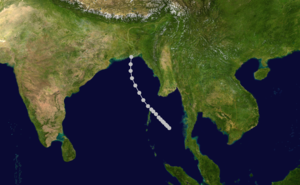1961 North Indian Ocean cyclone season - Image: 04 B 1961 track