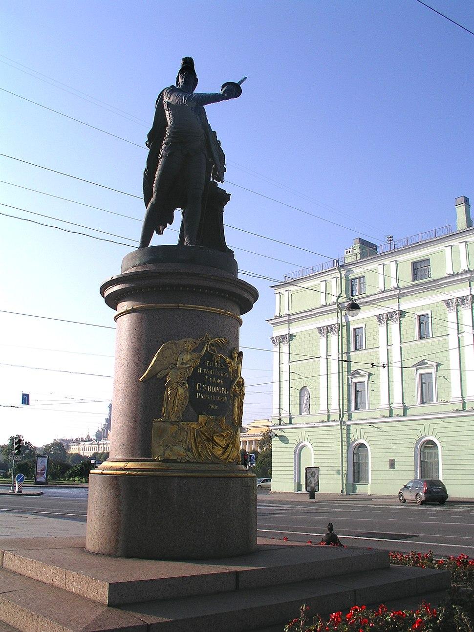 08-09-22 St. Petersburg Marsfeld Suworow-Denkmal