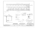 1-4 Roof Plan, 1-4 Floor Plan, 1-2 Section, 1-2 Elevation, Details - New London Pike Covered Bridge, Spanning Indian Creek, Hamilton, Butler County, OH HABS OHIO,9-HAM.V,1- (sheet 2 of 3).png