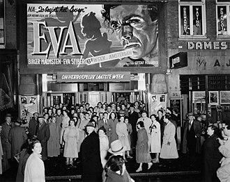Eva (1948 film) - Eva being shown in Amsterdam in 1951