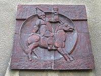 1170 Pezzlgasse 71-81 Stg 3 - Hauszeichen Eselsritt 1683 von Fritz Tiefenthaler 1962 IMG 4825.jpg