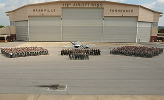 118th Wing - Personnel of the 118th Wing with an MQ-9 Reaper at Berry ANGB