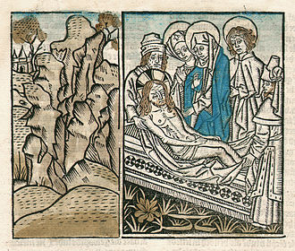 Vita Christi - Vita Christi by Ludolph of Saxony. Woodcut. 1487.