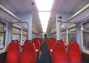 British Rail Class 153 - A half internal view of a refurbished East Midlands Trains Class 153