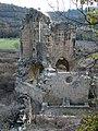 166 Ruïnes del monestir de Vallsanta (Guimerà), absis, façana nord.jpg
