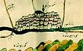 1671 Diyarbakır from Ottoman map of Tigris and Euphrates 2012 Kurşun Z Fig2.jpg