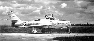 170th Fighter Squadron - Image: 170th Fighter Bomber Squadron Republic F 84F 25 RE Thunderstreak 51 1706