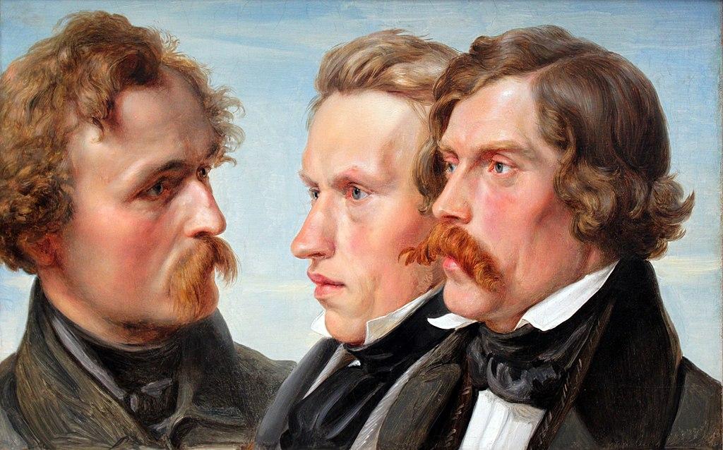 Les peintres The painters Karl Friedrich Lessing, Carl Sohn et Theodor Hildebrandt de Hubner au musée Alte nationalgalerie de Berlin.