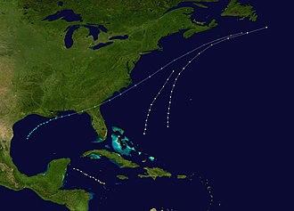 1868 Atlantic hurricane season - Image: 1868 Atlantic hurricane season summary